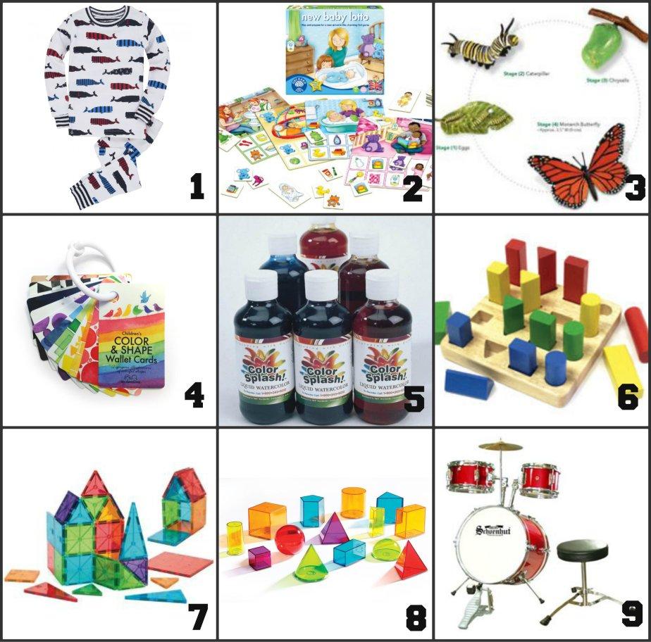 montessori gift list