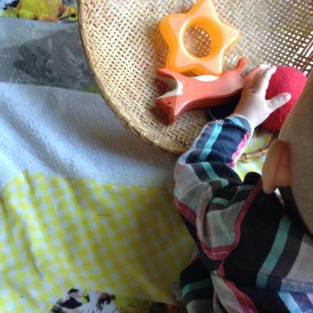 Montessori floor time and movement area