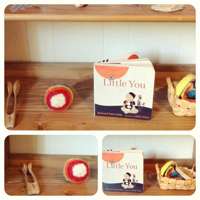 Montessori baby shelf collage